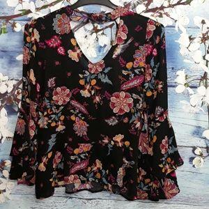 Grace & Lace Long Sleeve Floral Blouse | Size S